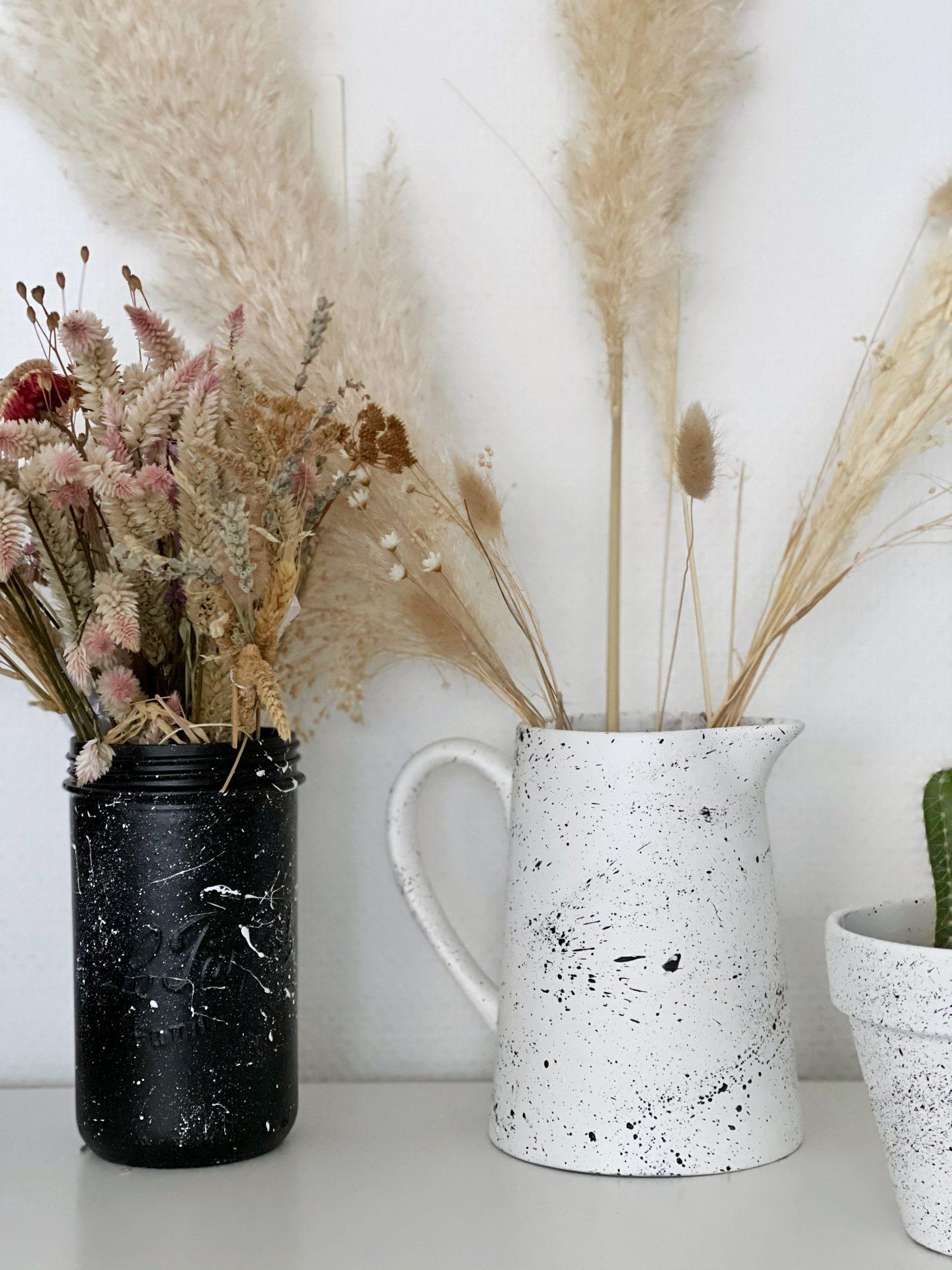 vase moucheté DIY