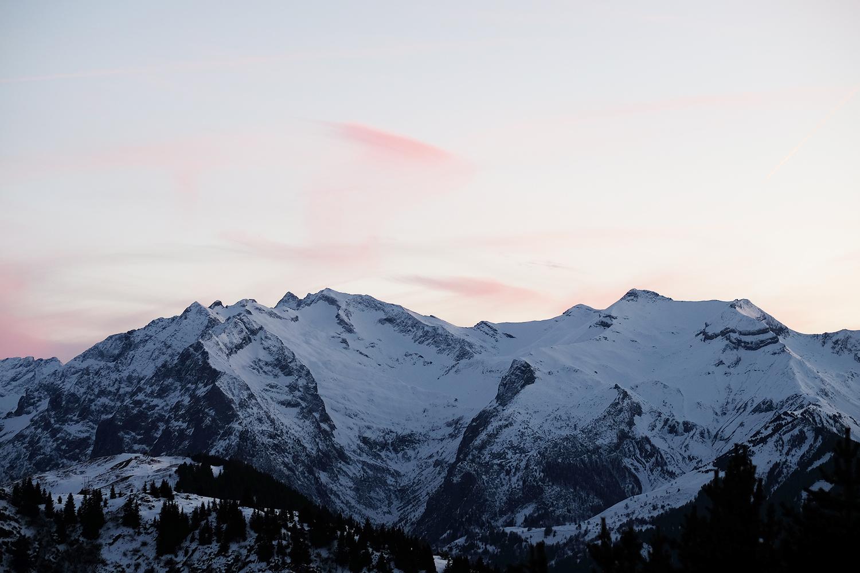 couche de soleil montagne