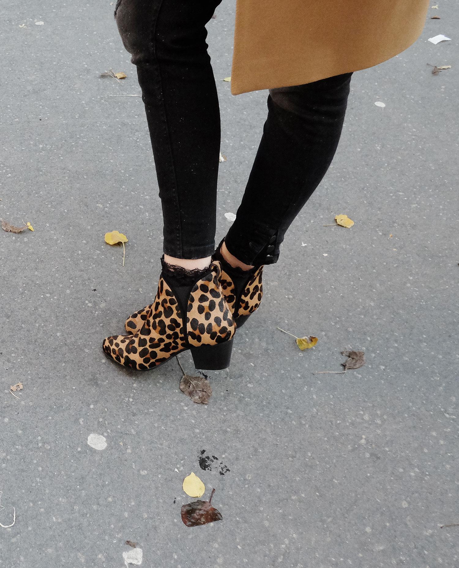 boots leopard sezane