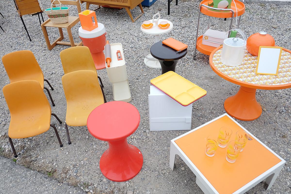 déco année 70 meuble orange