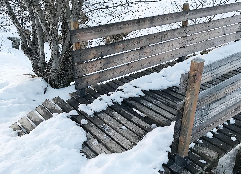 pont de bois neige