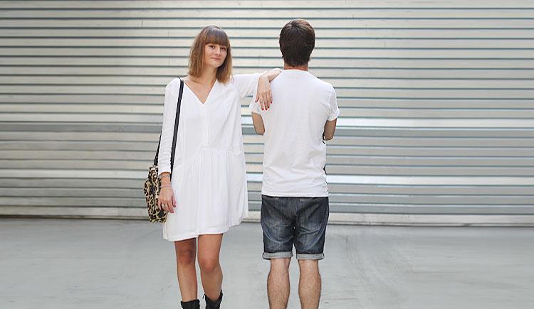 Robe blanche chez zara