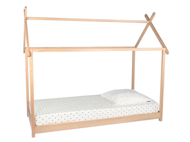 lit cabane bois