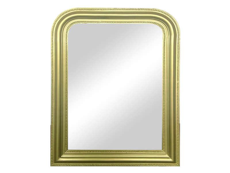 miroir doré cheminée